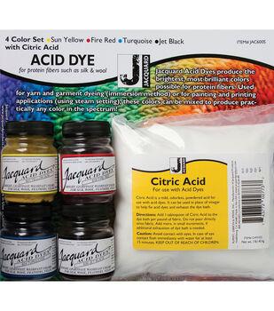 Jacquard Products Acid Dye Color Set With Citric Acid