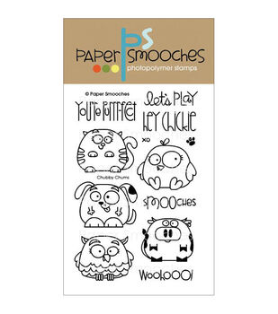 Paper Smooches Clear stamps Chubby Chums