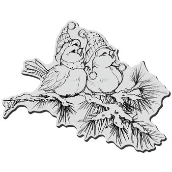 Wintr Bird-cling Rubber Stamp