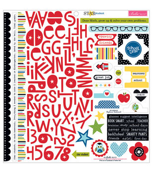 Bella Blvd Star Student Treasures & Text Cardstock Stickers