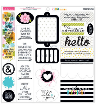 Bella Blvd Color Chaos Just Write Journaling Cardstock Stickers
