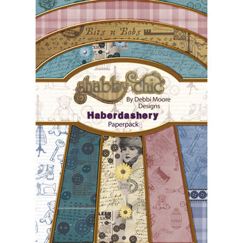 Debbi Moore Design Shabby Chic A4 Paper Pack Haberdashery