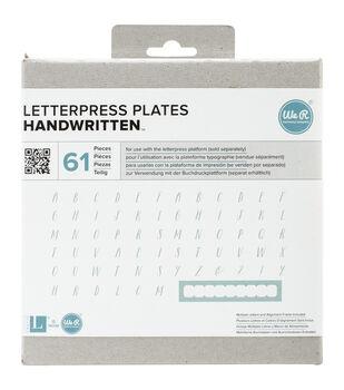 Lifestyle Letterpress Plates-Handwritten