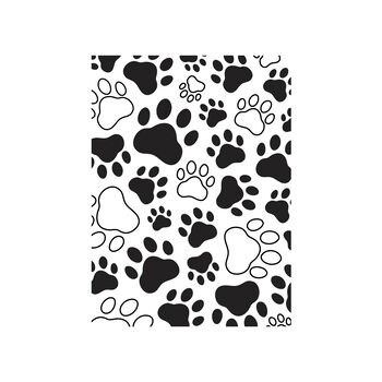 Darice® Embossing Folder - Paw Prints, 4-1/4 x 5-3/4 inches