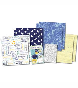 Karen Foster Scrapbook Page Kit Purify & Cleanse Baptism