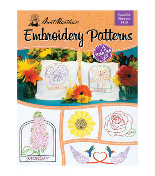 Colonial Patterns Iron-On Transfer Books Fanciful Flowers