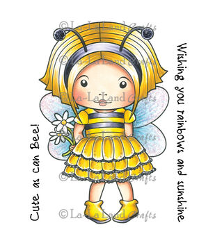 La-La Land Crafts Bumble Bee Marci Cling Mounted Rubber Stamps