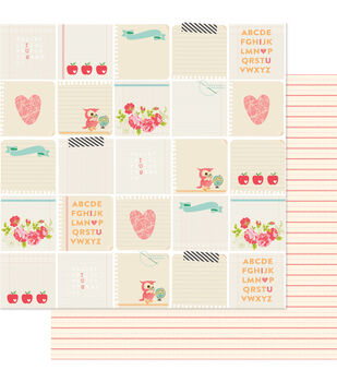 """Hall Pass Double-Sided Cardstock 12""""X12""""-Note Of The Day"""