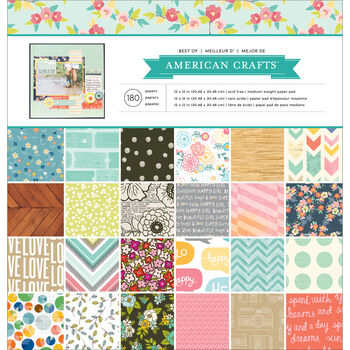 American Crafts Best Of Paper Pad