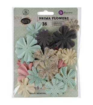 """Something Blue Flowers-paper Mr. & Mrs. 1.75"""" To 2"""" 24/Pkg"""