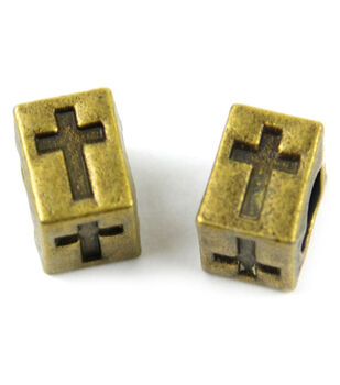 Midwest Design Paracord Antiqued Cross Slider Charm