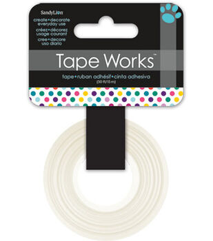 "Tape Works Tape .625""X50'-Multicolor Dots"