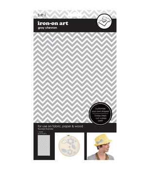 Gray Chevron Soild Transfer Sheet