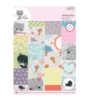 Papermania Little Meow Paper Pack A4