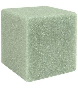 Floracraft 5''x5''x5'' Styrofoam Cubes-12PK/Green