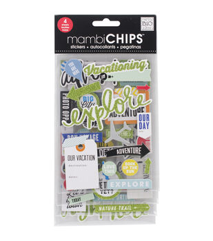 Me & My Big Ideas Mambi Chips Vacation Stickers