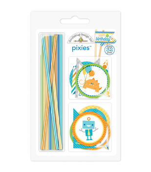 Doodlebug Embellshment - Hip Hip Hooray Pixie