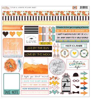 Glitz Design 77 Titles & Accents Cardstock Stickers