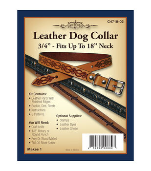 """Realeather Crafts- Leather Dog Collar 3/4"""""""