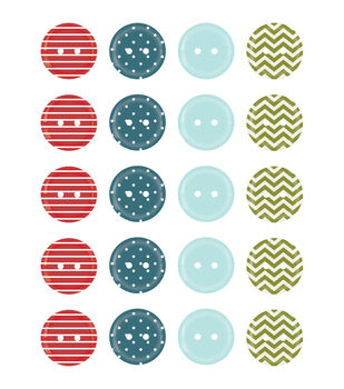 Perfect Vacation Buttons 20/Pkg-Travel