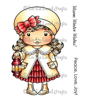 "La-La Land Cling Mount Christmas Stamp 4""X3""-Lantern Marci"