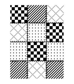 Darice Quilt Blocks Embossing Folder