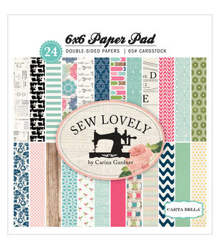 "Sew Lovely Cardstock Pad 6""X6"" 24/Sheets-Double-Sided"