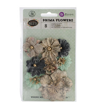 """Something Blue Flowers-paper Tie The Knot 1.75""""X2.75"""" 8/Pkg"""