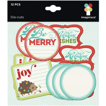 Imaginisce Colors Of Christmas Cardstock Die-Cuts Journaling