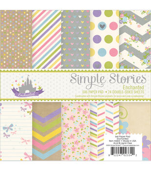 Simple Stories Enchanted Paper Pad 6''x6''