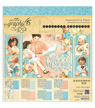 Graphic 45 Precious Memories Paper Pad 8''x8''