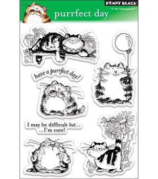 """Penny Black Clear Stamps 5""""X7.5"""" Sheet-Purrfect Day"""