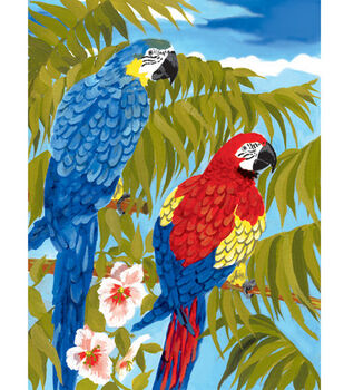 Royal Langnickel Junior Small Paint By Number Kit Parrots