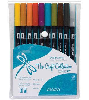 Tombow Dual Brush Pen Set – 10PK, Groovy