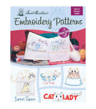 Colonial Patterns Iron-On Transfer Books Clever Kitties
