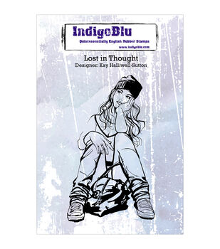 Indigoblu Lost In Thought Cling Mounted Stamp