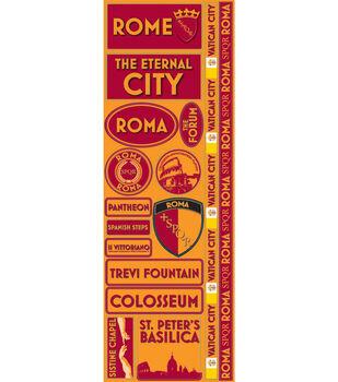 Reminisce Passports Die-Cut Stickers-Rome