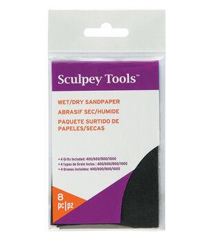 "Sculpey Wet/Dry Sandpaper Variety Pack 8pc-2.75""X4.5"""