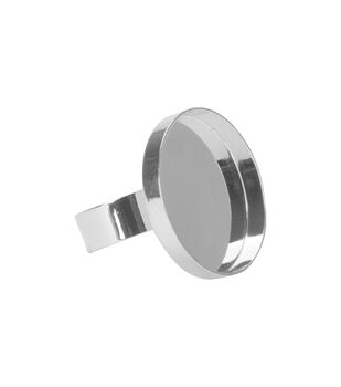 Lisa Pavelka Ring Form 1/Pkg-Silver Round