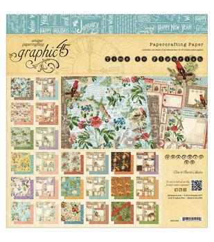 "Graphic 45 Paper Pad 8""X8"" 24/Pkg-Time To Flourish"