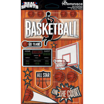 Reminisce Real Sports Dimensional Stickers Basketball