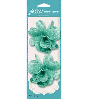 Jolee's Boutique - Mint Burlap Flowers
