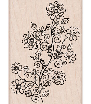 Hero Arts Mounted Stamp-Flower Swirl Vine
