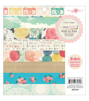 """Styleboard paper Pad 6""""X6"""" 36/Sheets-Single-Sided"""