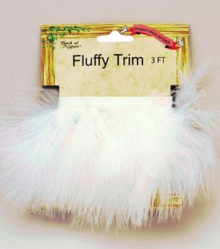 Marabou Feather Trim Tape-White