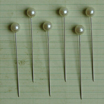 Maya Road Pearl Ball Pins Cream