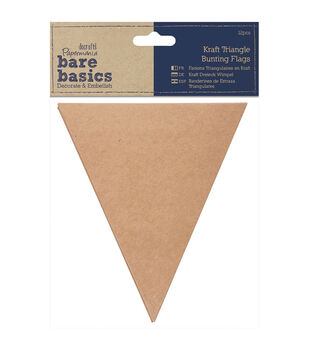 Papermania Bare Basics Triangle Bunting Kraft Pennant Flags