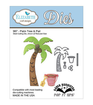 Elizabeth Craft Designs Pop It Up Palm Tree & Pail Metal Dies
