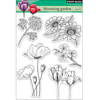 Penny Black Clear Stamps Sheet Blooming Garden