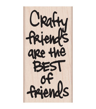 Hero Arts Crafty Friends Mounted Rubber Stamps